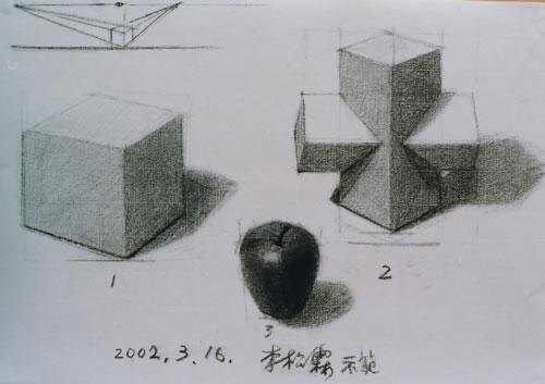 正方体和十字长方体的石膏
